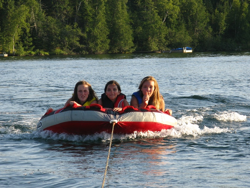 130 The girls love tubing in the bay.JPG